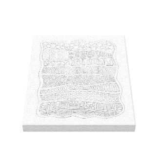 Abstrakte Linie Kunst-Entwurf Leinwanddruck