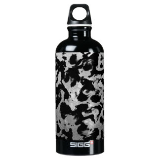 Abstrakte Magie - silbernes Schwarzes Wasserflasche