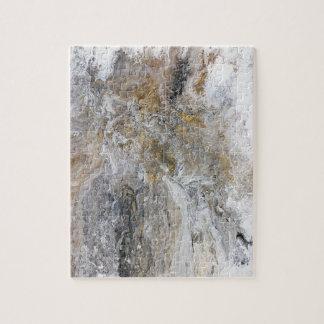 Abstrakte Malerei-graue schwarze Goldweiß-Grafik