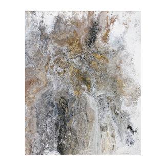 Abstrakte Malerei-graue schwarze Goldweiß-Grafik Acryldruck