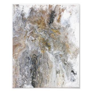 Abstrakte Malerei-graue schwarze Goldweiß-Grafik Fotodruck