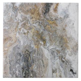 Abstrakte Malerei-graue schwarze Goldweiß-Grafik Keramikfliese