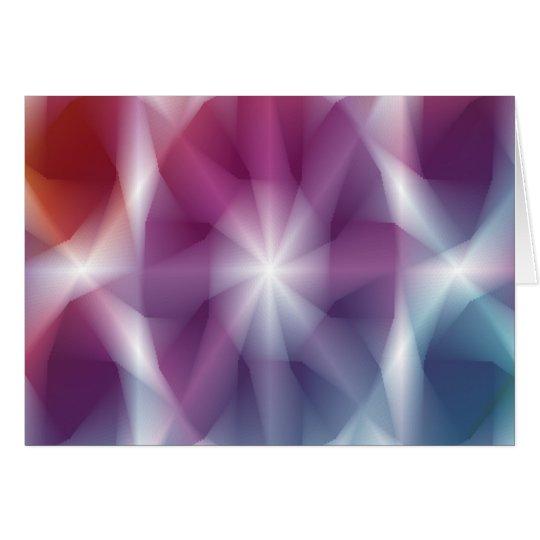 Abstrakte Mehrfarbenkunst Grußkarte