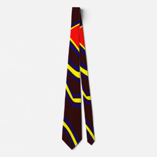 Abstrakte moderne Kunst dunkelbraun Bedruckte Krawatte