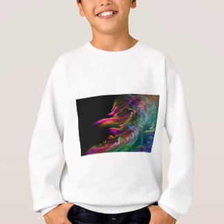 Abstrakte multi Farbe bewegt in Bewegung Sweatshirt