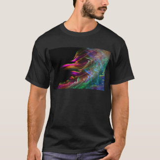 Abstrakte multi Farbe bewegt in Bewegung T-Shirt