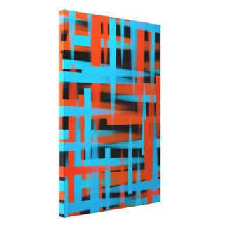 Abstrakte Ölbürstenanschläge in Orange und in Leinwanddruck