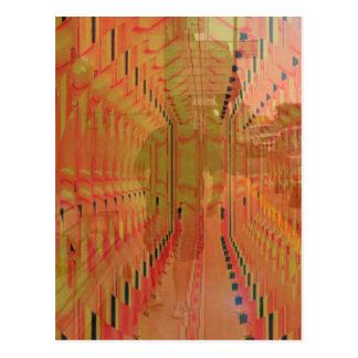 Abstrakte orange abwechselnde Wirklichkeit Postkarte
