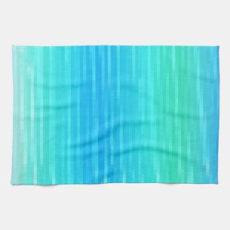 Abstrakte Pastellkunst-aquamarines Türkis-blaues Küchentuch