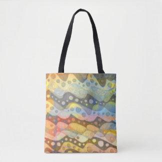 Abstrakte Pastellkunst in vielen Farben Tasche