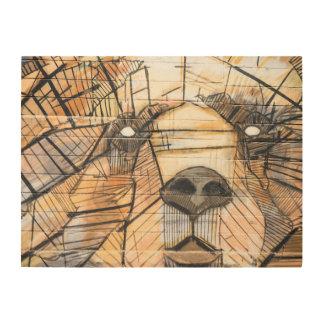 Abstrakte Platten-Wand-Kunst des Bärn-| hölzerne Holzleinwand