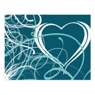 Abstrakte Postkarte des Valentines Tages