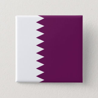 Abstrakte Qatar-Flagge, Qatari färbt Knopf Quadratischer Button 5,1 Cm