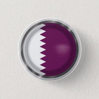 Abstrakte Qatar-Flagge, Qatari färbt Knopf Runder Button 2,5 Cm