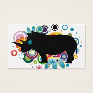 Abstrakte Rhino-Geschäfts-Karten Visitenkarte