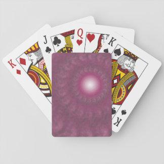 Abstrakte rosa/lila Strudel-Turbulenz-Spielkarten Spielkarten