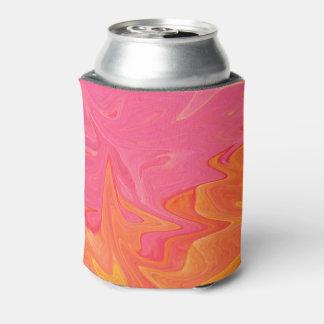 Abstrakte rosa und gelbes Goldsoda-Dose cooler