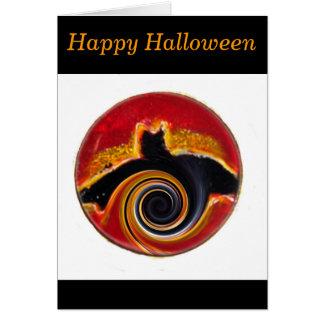 Abstrakte Schläger-Kunst Halloweens Karte