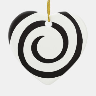 Abstrakte Spirale Keramik Ornament
