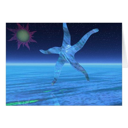 Abstrakte StarFish Grußkarte