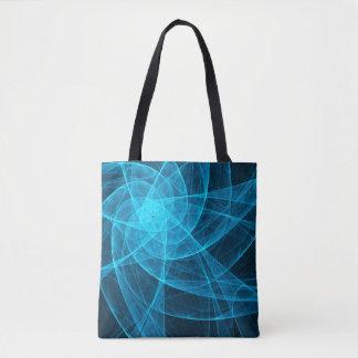Abstrakte Tulle-Stern-Computer-Kunst im Blau Tasche
