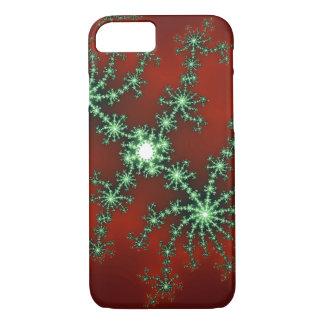 Abstrakte Weihnachtsfarbexplosion iPhone 7 Hülle