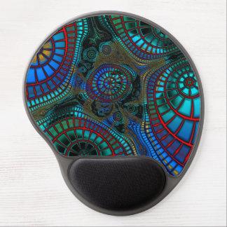 Abstrakte Welle-Fraktale Gel Mousepad