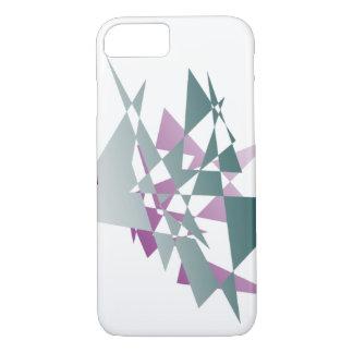 Abstrakter aquamariner und lila Dreiecke iPhone 7 iPhone 8/7 Hülle