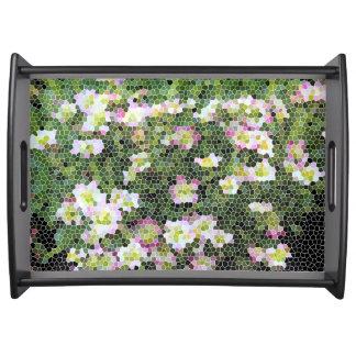 Abstrakter Behälter Blume Sun-Blume Serviertablett