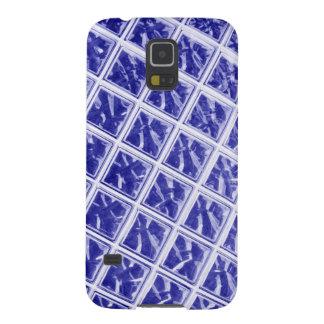 Abstrakter blauer Quadratentwurf Samsung S5 Cover