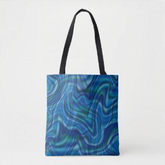 Abstrakter blauer Strudel-Entwurf Tasche