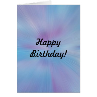 Abstrakter Blues-und Purpur-Geburtstag Karte