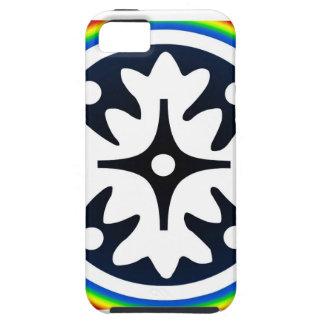 Abstrakter Blumen-Blätter-Entwurf iPhone 5 Schutzhüllen