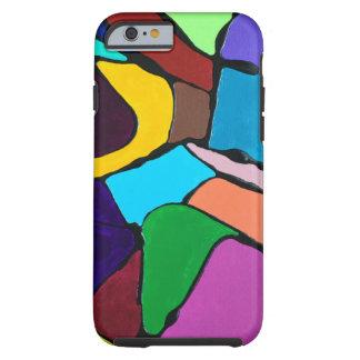 Abstrakter bunter Kunst-Entwurf Tough iPhone 6 Hülle
