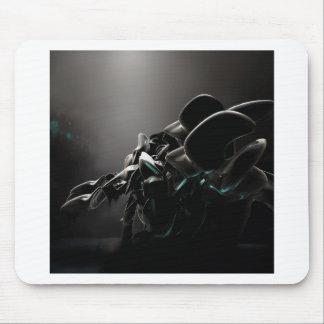 Abstrakter cooler schwarzer Charme Mousepads