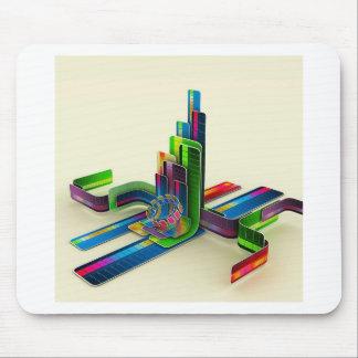 Abstrakter cooler Zugang die Farben Mauspad