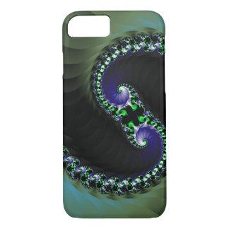 Abstrakter dunkle Farbstrudel Digital iPhone 7 Hülle