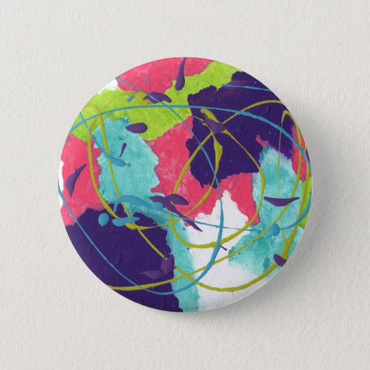 Abstrakter Entwurf von der ursprünglichen Malerei Runder Button 5,1 Cm