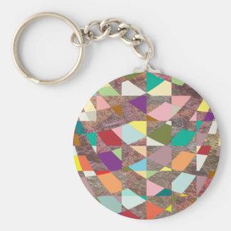 Abstrakter FarbGlitter Schlüsselanhänger
