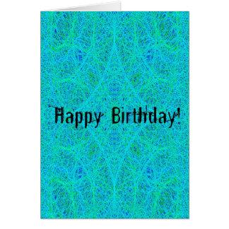 Abstrakter Geburtstag Karte