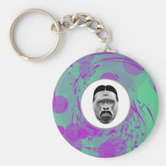 Abstrakter Gorilla Keychain Schlüsselanhänger