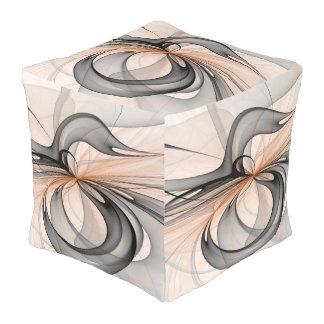 Abstrakter grauer Anthrazitsienna formt Kubus Sitzpuff