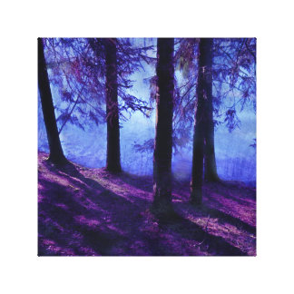 Abstrakter kleiner Teich und Baums Leinwanddruck