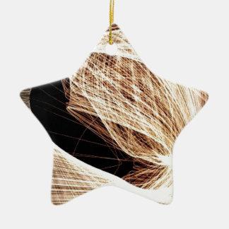 abstrakter Kunst-Wirbel - Abgrund Keramik Stern-Ornament