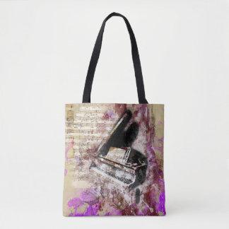 Abstrakter Musik-Klavier-Entwurfs-lila Tasche