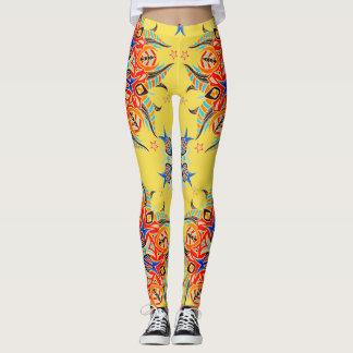 Abstrakter Muster-Entwurf (Gelb) Leggings