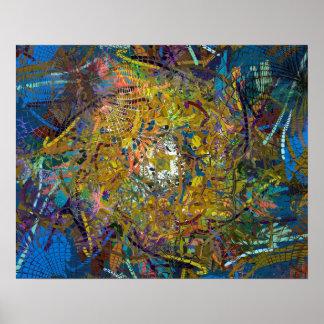 Abstrakter Muster-Glas-Effekt Poster