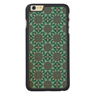 Abstrakter Musterentwurf des Blumenmandala Carved® Maple iPhone 6 Plus Hülle