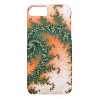 Abstrakter orange grüner Strudel iPhone 7 Hülle