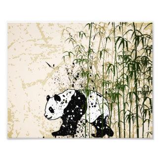 Abstrakter Panda im Bambuswald Fotografie